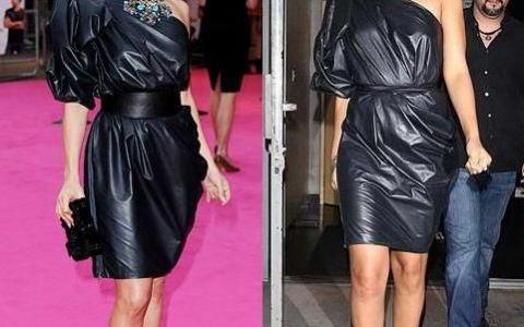 Jennifer Lopez versus Rihanna! Cui ii sta mai bine in rochia neagra Lanvin?