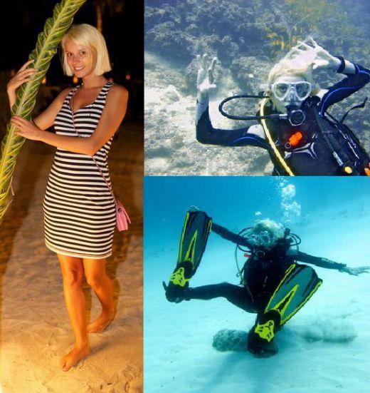 Diana Dumitrescu a inotat printre rechini in Maldive! FOTO