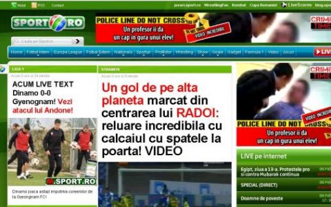 www.sport.ro, cel mai vizitat site, RECORD all-time de afisari in ianuarie!