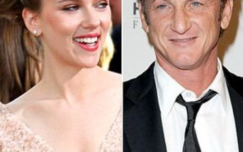 Scarlett Johansson si Sean Penn, un nou cuplu? Ea are 26, el 50 de ani!