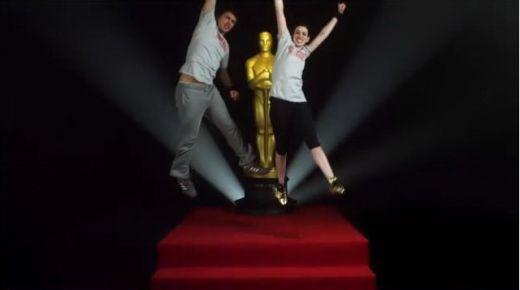 Anne Hathaway si James Franco, antrenati intensiv pentru Oscar! VIDEO