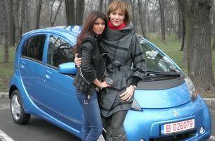 Ileana Lazariuc a testat la Pro Motor o masina electrica