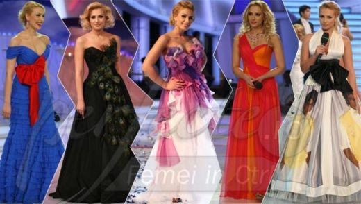 Top cele mai spectaculoase rochii purtate de Iulia Vantur la  Dansez pentru tine