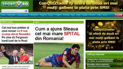 Cel mai citit site din Romania? www.sport.ro!