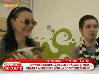 Carmen Tanase si Octavian Strunila au infiintat o scoala de actorie - VIDEO