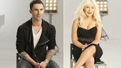 Adam Levine si Christina Aguilera canta  Moves Like Jagger ! AUDIO PREMIERA