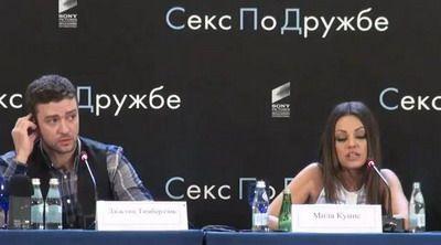 VIDEO Mila Kunis stie perfect RUSA! Uite ce FATA a facut Justin Timberlake cand a auzit-o cum vorbeste!