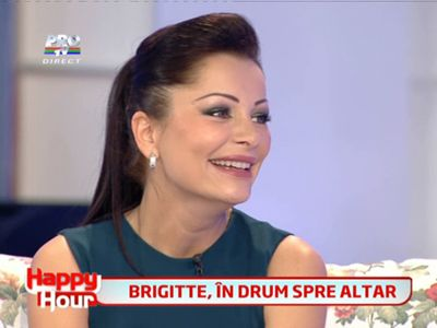 Brigitte Sfat este in drum spre altar! VIDEO