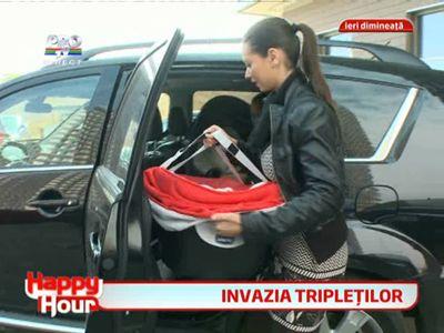 Primul vaccin al tripletilor Nicoletei Luciu!