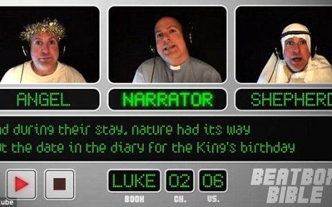 VIDEO. Noua senzatie pe internet: Un preot face beatbox in timp ce canta despre nasterea lui Hristos!