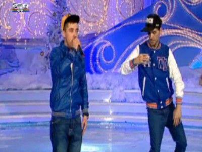 Revelion in ritm de hip hop! Vezi ce show au facut Adrian Tutu si Robo: VIDEO