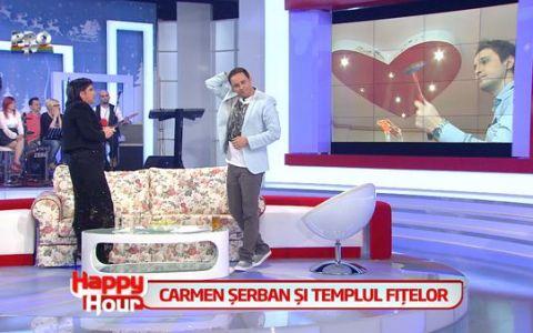 I-au frant inima cantaretei Carmen Serban! Echipa Happy Hour a distrus inimioara de pe tavanul din casa acesteia