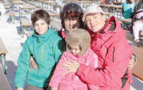 Roxana Ciuhulescu s-a bronzat mai mult ca vara, la schi