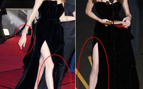 Angelina Jolie, o aparitie surprinzatoare la premiile Oscar. Ce parere ai: este sexy sau mult prea slaba?