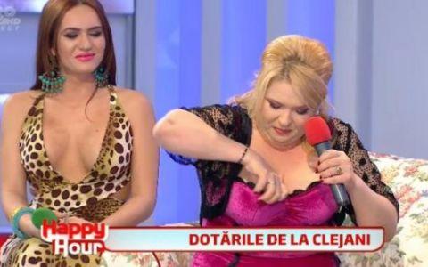 Pentru prima data, Margherita isi prezinta silicoanele la TV! Ce parere ai de noul ei bust? VIDEO