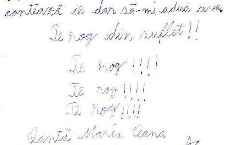 FOTO: Cea mai draguta scrisoare pentru barza. Expeditorul: fiica lui Ovidiu Oanta, corespondentul Stirilor ProTV