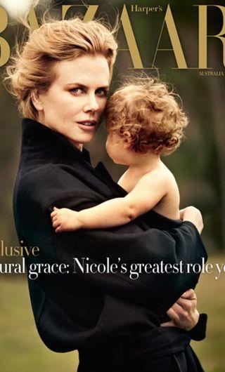 Nicole Kidman si fetita ei Faith, adorabile pe coperta Harper rsquo;s Bazaar Australia - FOTO