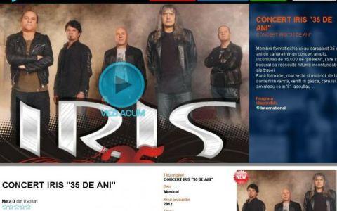 Concertul aniversar IRIS 35 de ani este ACUM integral pe voyo.ro