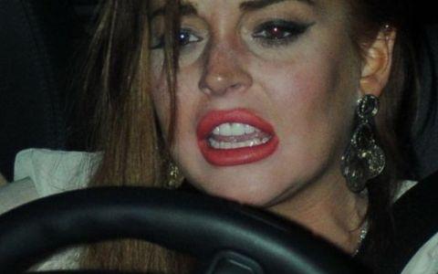Un nou episod jenant marca Lindsay Lohan: a vrut sa arate ca o diva, dar seamana mai mult cu un clovn - FOTO