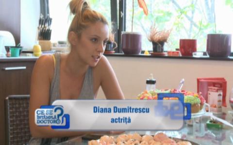 Diana Dumitrescu e dulce de tot. La propriu :) O ipostaza in care nu o vezi foarte des. VIDEO