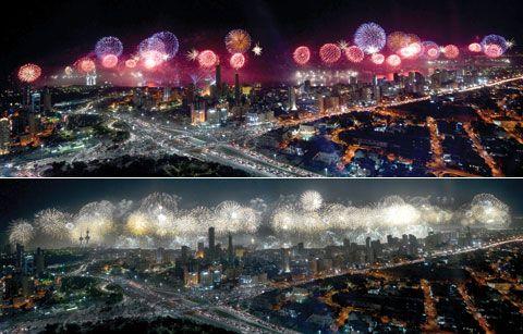 Spectacol impresionant. Cel mai mare foc de artificii din toate timpurile, din lume: VIDEO