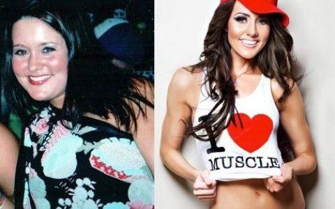Greu de crezut ca e una si aceeasi persoana! Transformarea uimitoare a unei fete: cum a reusit sa slabeasca 20 kg si sa arate ca o antrenoare de fitness