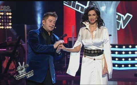 Nicoleta Luciu a atras toate privirile la  Vocea Romaniei . S-a imbracat in alb si a fost super sexy