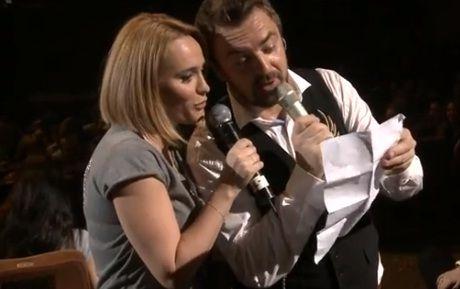 Andreea Esca, pe scena alaturi de Horia Brenciu. Prezentatoarea a cantat in concert, impreuna cu artistul. Cum s-a descurcat?