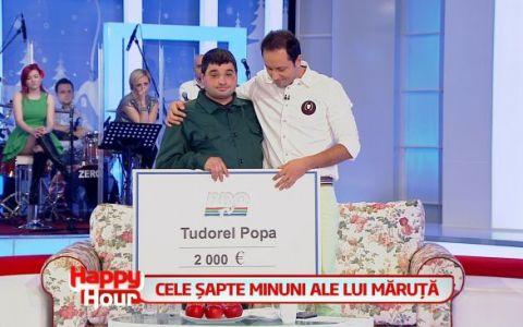 Ce face Tudorel Popa de la  Romanii au talent  cu bonurile de masa pe care le primeste in plus fata de salariul de 700 de lei. Un gest emotionant