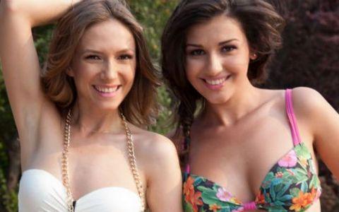 Alina Eremia si Adela Popescu, 100% naturale pe platoul de filmare: FOTO