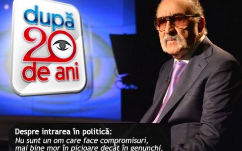 Ion Tiriac, la  Dupa 20 de ani :  Eu ii dau credibilitate si lui Ponta, si acestui guvern