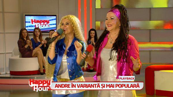 Cum s-au transformat Maria Carneci si Niculina Stoican in fetele din trupa Andre. Vezi cum au cantat: VIDEO