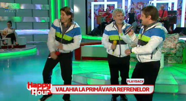 """Adi de la Valcea, Liviu Guta si Dinu Maxer, noii membri ai trupei Valahia. Au facut super show la """"Happy Hour"""": VIDEO"""