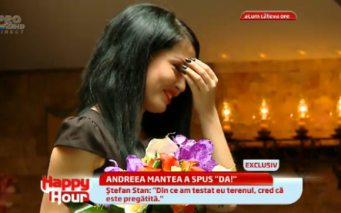 Stefan Stan a cerut-o in casatorie pe Andreea Mantea: Vezi intregul moment VIDEO
