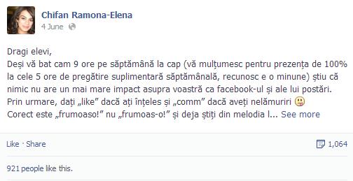 Lectia de gramatica de pe Facebook. Mesajul unei profesoare de limba romana care a devenit viral