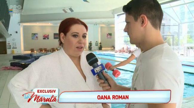 Oana Roman se mentine in forma pe timpul sarcinii la aqua gym. Pana acum, a luat doar 5-6 kilograme in greutate
