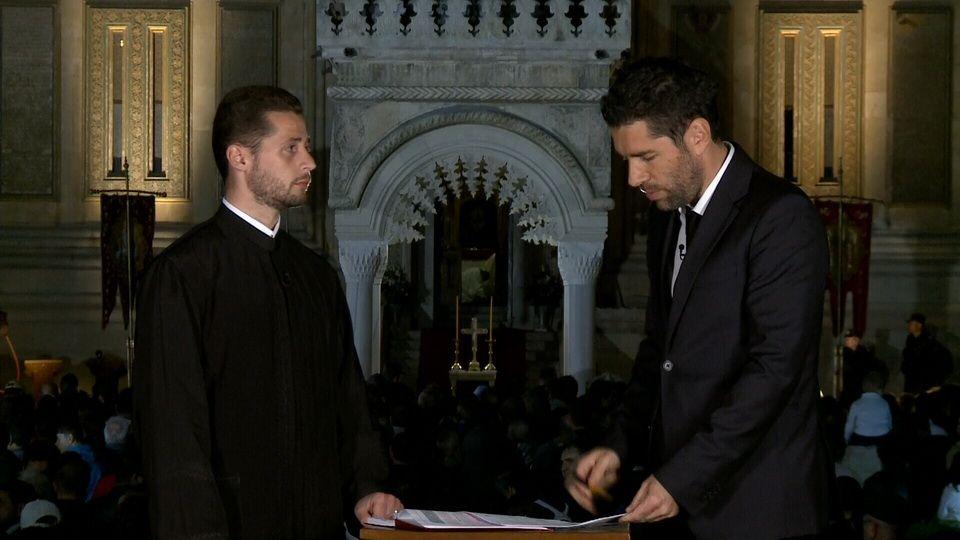 """Alex Dima spune """"Hristos A Înviat"""" la ProTV, in direct de la Manastirea Curtea de Arges"""
