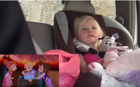 Tatal a surprins-o plangand in scaunul auto, iar motivul a induiosat pe toata lumea. Ce s-a intamplat