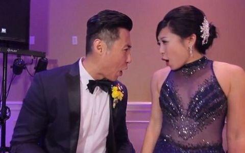 Ar putea fi cel mai tare dans de nunta. Ce au facut mirele si mireasa alaturi de cei 250 de invitati - VIDEO