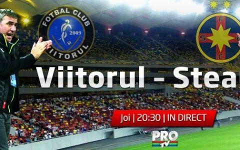 Steaua merge in semifinalele Cupei Romaniei dupa victoria in fata Viitorului lui Hagi!