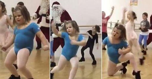 O fetita si un Mos Craciun au facut spectacol pe ringul de dans. Miscarile lor de twerk au ajuns viral pe internet