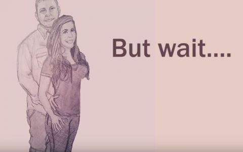 Un cuplu a facut cel mai neobisnuit anunt. S-au desenat si au filmat totul. Ce apare la finalul desenului