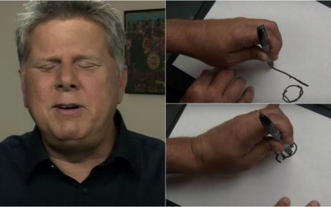 E fascinant! Un barbat care s-a nascut orb a fost rugat sa deseneze ceea ce  vede  - VIDEO