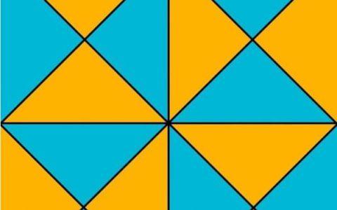 Provocarea care face acum senzatie pe internet. Cate triunghiuri vezi in aceasta imagine?