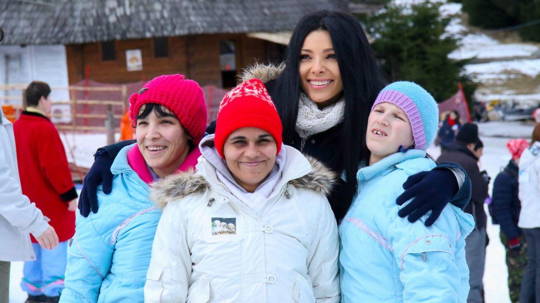 Corina Caragea a participat la Jocurile Speciale de Iarna alaturi de copiii beneficiari ai  Hope and Homes for Children