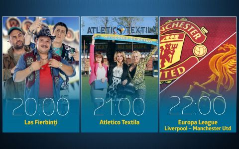 Saptamana aceasta, joi, de la 20:00, PRO TV da fotbal si comedie!