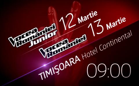 Preselectiile Vocea Romaniei Junior si Vocea Romaniei continua weekend-ul acesta la Timisoara!