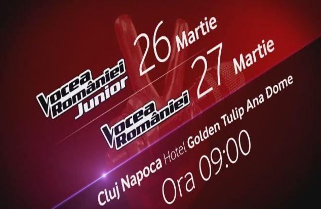 Preselectiile Vocea Romaniei si Vocea Romaniei Junior ajung in Cluj Napoca!