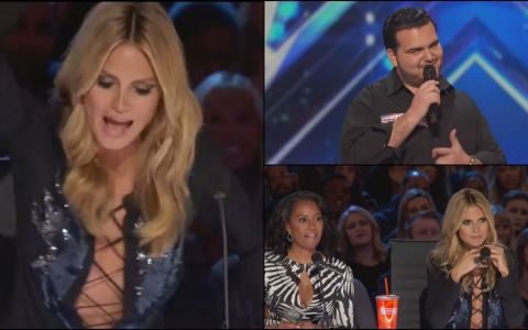 A urcat pe scena, a flirtat cu Heidi Klum si a cantat. Cum a reactionat vedeta la finalul momentului si ce i-a spus concurentului