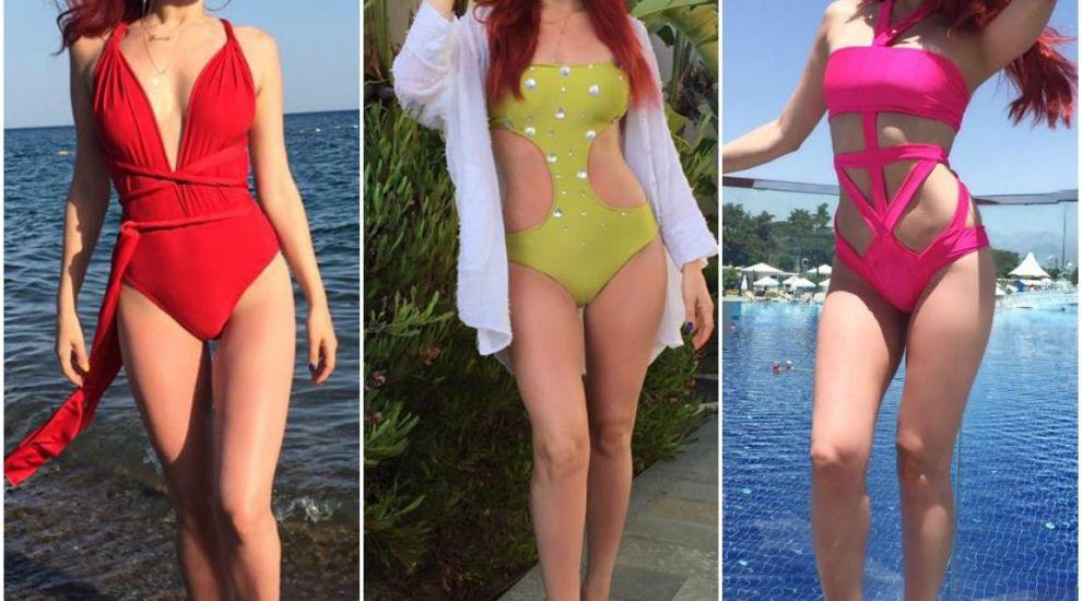 Elena Gheorghe la proba costumului de baie. Parada in bikini, care i-a uluit pe fanii artistei